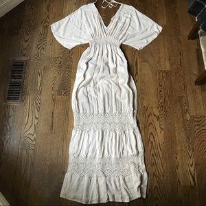 Lovestitch Ivory/Cream Boho Maxi Dress M/L